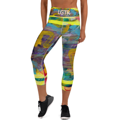 Colorful Comfortable LGTR by xLittleWEAR 2058 Yoga Capri Leggings | xLITTLEwear
