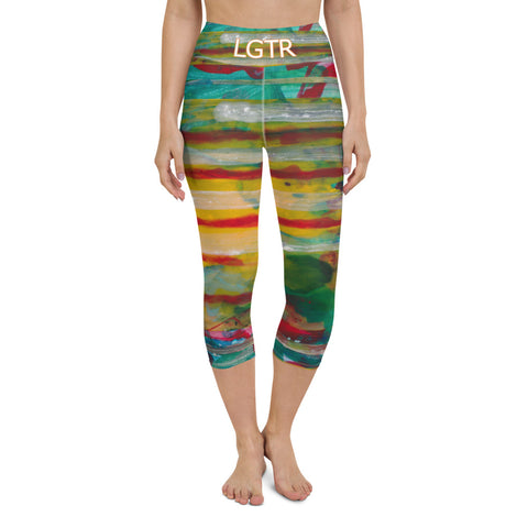 Colorful Comfortable LGTR by xLittleWEAR 2053 Yoga Capri Leggings | xLITTLEwear
