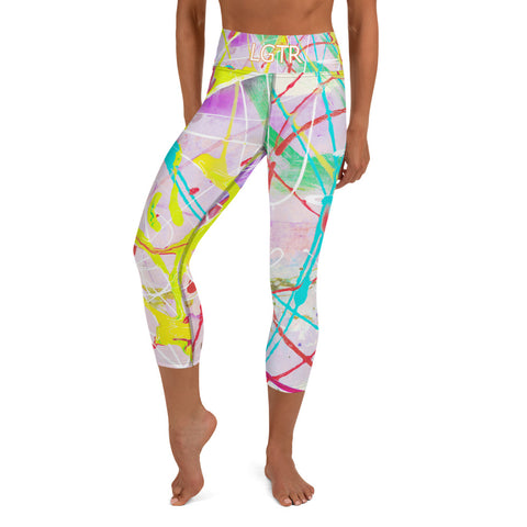Colorful Comfortable LGTR by xLittleWEAR 1823L Yoga Capri Leggings | xLITTLEwear