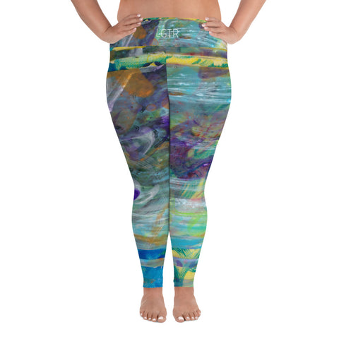 2056 | Women's Stretch Plus Size Classic Yoga Leggings | xLITTLEwear