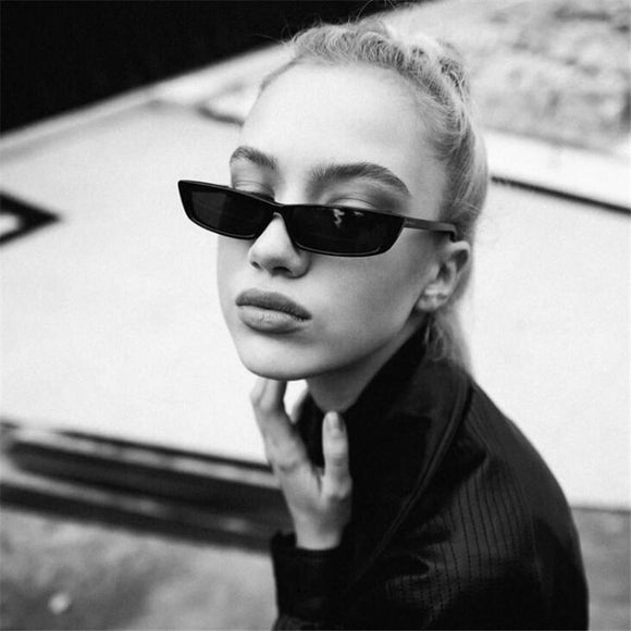 883b1387d8 2018 Vintage Cat Eye Sunglasses Women Fashion Small Frame Sun Glasses  Ladies Retro Personality Cat Eyeglasses