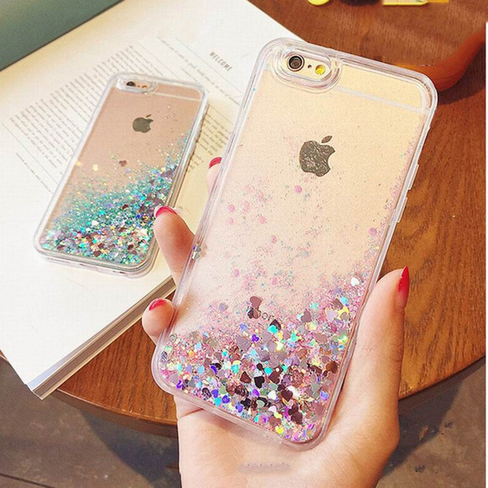 new arrival 18147 4a3e5 KISSCASE Glitter Bling Quicksand Phone Case For iPhone 6s 6 5s 5 SE 4s 4 8  7 Luxury Flowing Girly Cases For iPhone 8 7 6 6S Plus