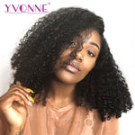 Malaysian Curly Short BOB Wigs For Black Women Natural Color Virgin Brazilian Human Hair Lace Front Wigs