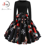 vintage Winter Christmas Dresses Women
