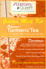 Organic Golden Milk Kit Turmeric Tea 2oz
