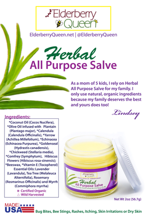 Wholesale: Herbal Salve/ Healing Salve 2 fl oz - 24 jars/case