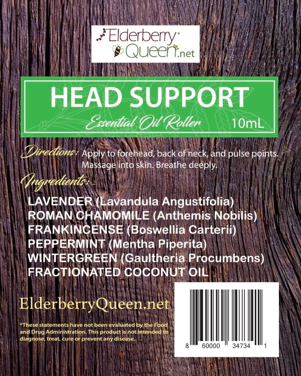 Head Support Essential Oil Roller 10mL