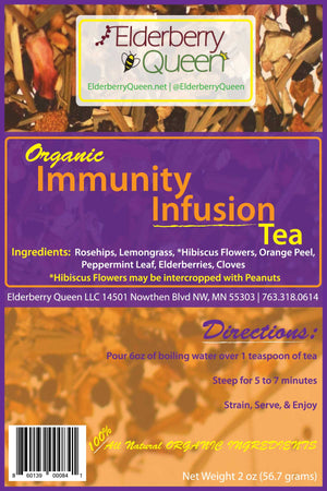 Organic Immunity Infusion Loose Leaf Herbal Tea 2oz