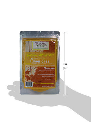Wholesale: Organic Golden Milk Kit/ Turmeric Tea 2oz - 12 packages/case