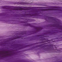 Load image into Gallery viewer, O4441W oceanside deep violet/pale purple waterglass 96 COE 8 x 11