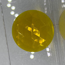 Load image into Gallery viewer, 25mm yellow faceted jewel