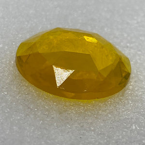 25mm yellow faceted jewel