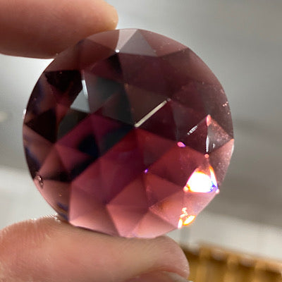 35mm violet faceted jewel