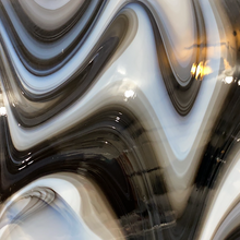 Load image into Gallery viewer, O963005 oceanside opalart licorice swirl 96 COE 12 x 12