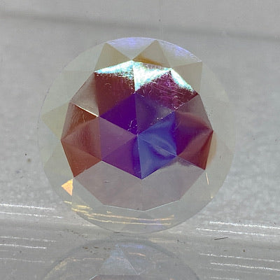25mm iridescent crystal faceted jewel