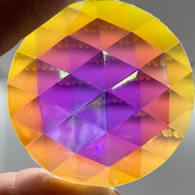 50mm iridescent crystal faceted jewel