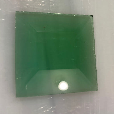1.5 x 1.5 square bevel green