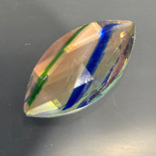 Load image into Gallery viewer, 30mm x 15mm sunset dichroic cassatta pointed ellipse jewel