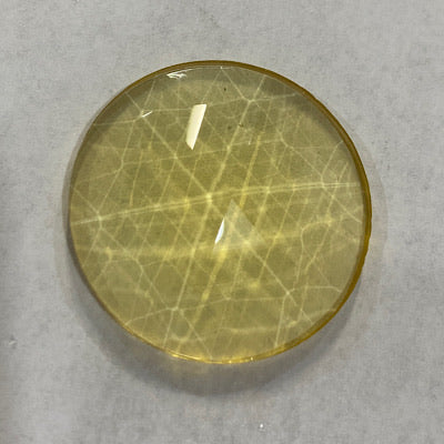 30mm light amber faceted jewel