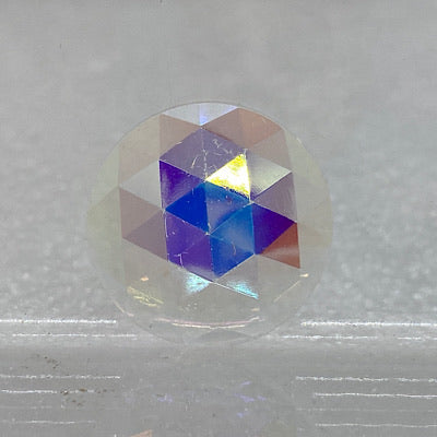 20mm iridescent crystal faceted jewel