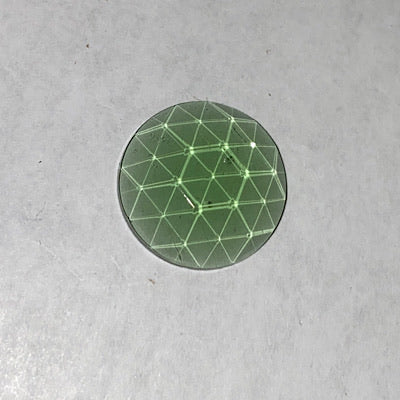 20mm seafoam green faceted jewel