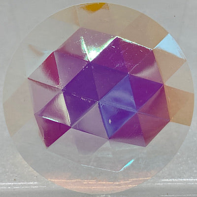 35mm iridescent crystal faceted jewel