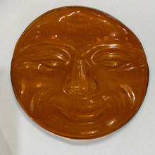 "Load image into Gallery viewer, amber jumbo moonface 6"" diameter"
