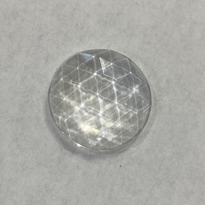 20mm crystal faceted jewel