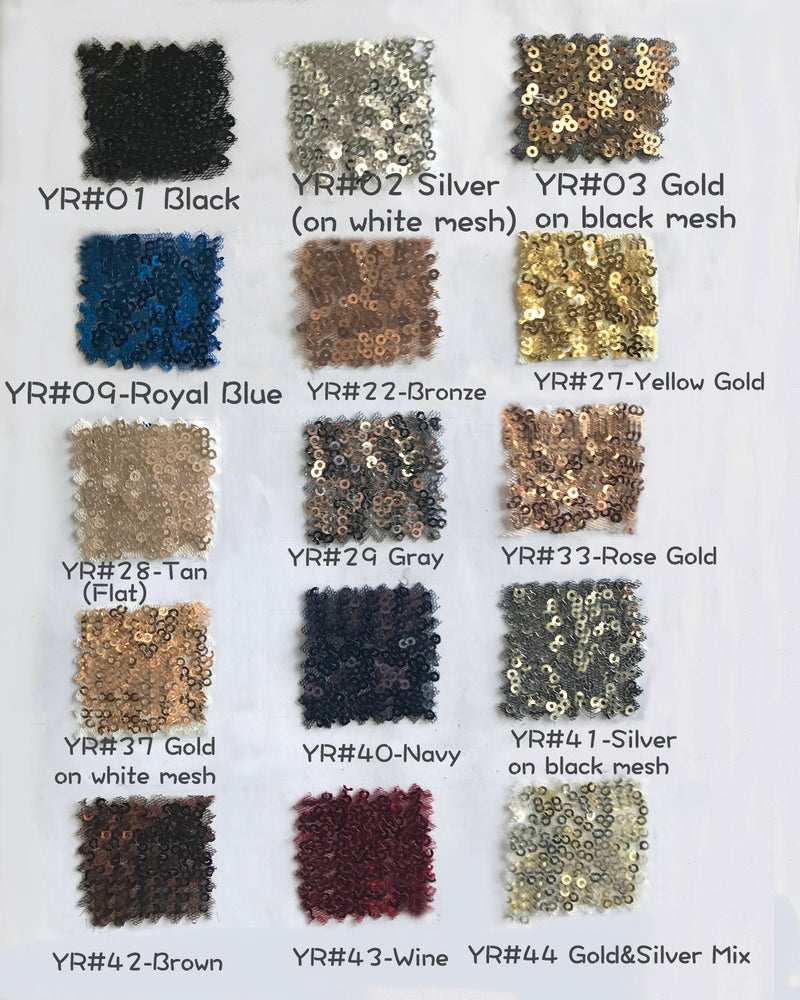 Bigger Swatch Pieces for Sequined Fabric with 17 Colors, Large Swatch Pieces Available For Party Dress/Bridesmaid Dress/Prom Dress (RenzRags)