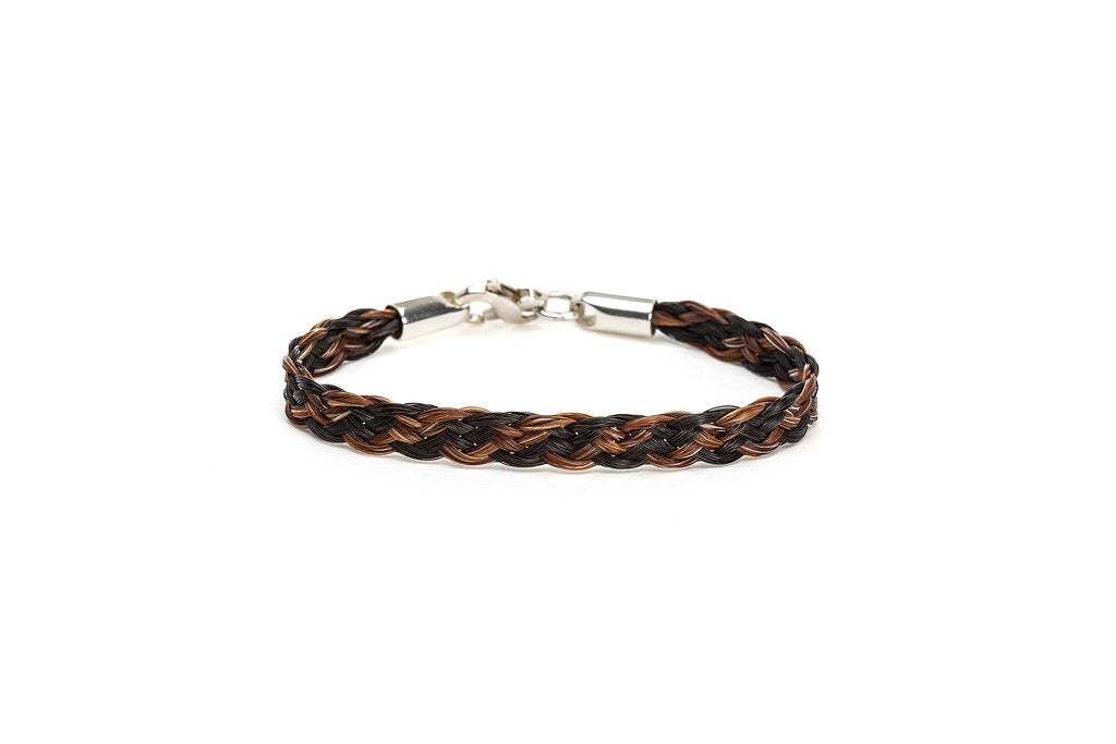 8 ply Ribbon Braid Horsehair Bracelet