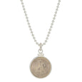 Russian 5 ruble coin in sterling silver mount
