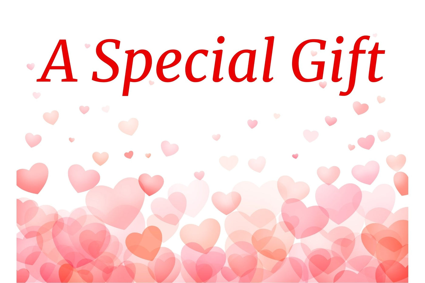 Pink hearts gift card