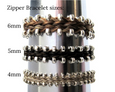Zipper horsehair bracelet sizes