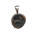 Phillip II ancient greek bronze horse coin