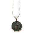 Back of ancient Greek Kainon coin pendant with griffin