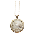 German States Brunswick one twelfth thaler silver coin in 18kt gold pendant