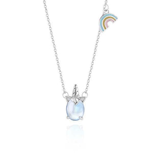 Silver Rainbow Unicorn Pendant Necklace(Buy 1 Get 1 Free Today)