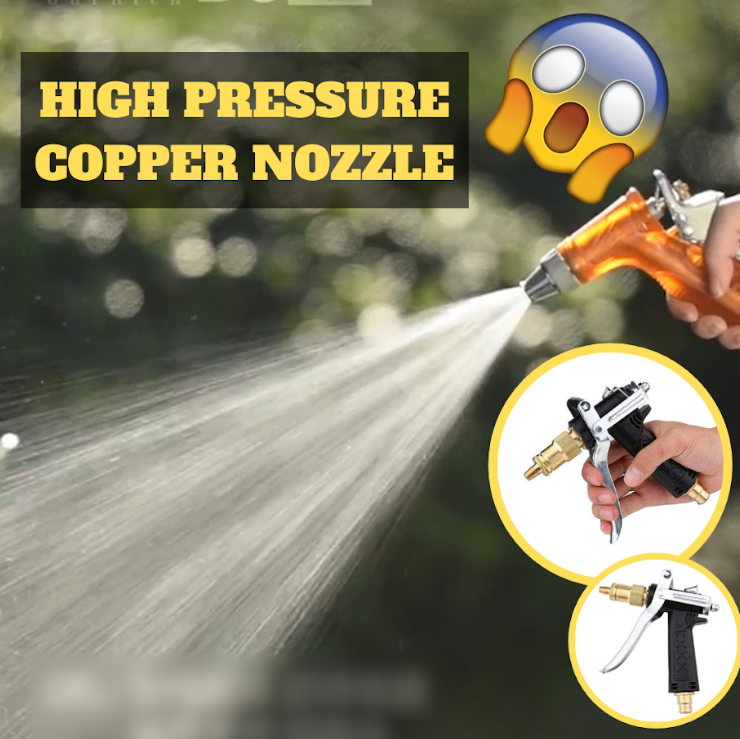 Copper High-Pressure Watering Nozzle( 2 PCS FREE SHIPPING )
