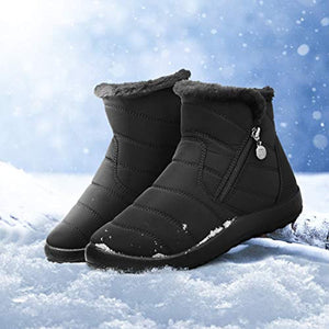 Women's Winter Ankle Bootie Waterproof Anti-Slip Fur Lined