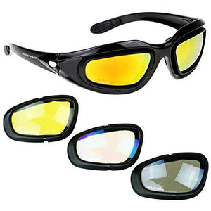 Motorcycle Glasses with 4 Lens Kit