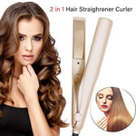 🔥HOT SALE🔥COLOR💖 ROSE GOLD (BEST GIFT)💖2 IN 1-High Quality Hair Straightening Irons Hair Curler Tool