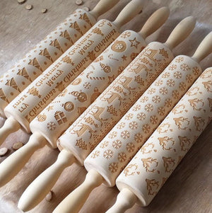 MERRY CHRISTMAS!!! SANTA CLAUS ROLLING PIN
