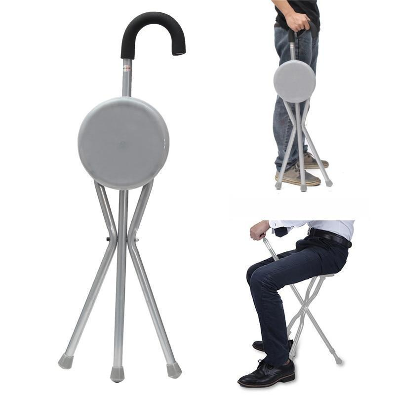 Tripod Walking Cane With Portable Chair