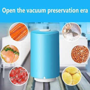 Mini Automatic Compression Vacuum Pump Housekeeping Sealer Clamp Snack Fresh Food Rod Strip Kitchen Tool With Bags