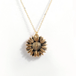 """YOU ARE MY SUNSHINE""- SUNFLOWER NECKLACE"