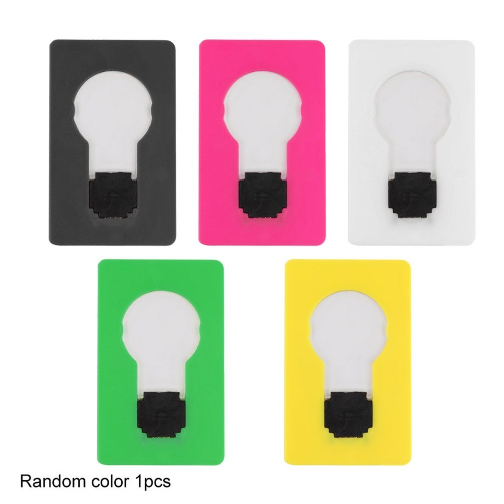 New Design Portable LED Card Pocket Light bulb Lamp