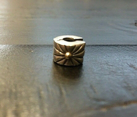Authentic Pandora SUNBURST CLIP Two-Tone Charm - 790216 Retired