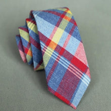 Load image into Gallery viewer, Plaid Skinny Neck Tie