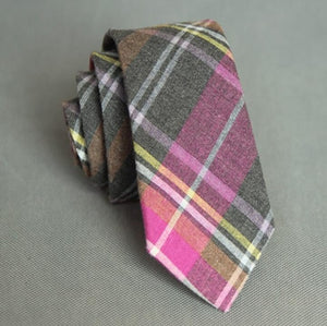 Plaid Skinny Neck Tie