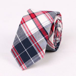 Plaid Tie Men Casual